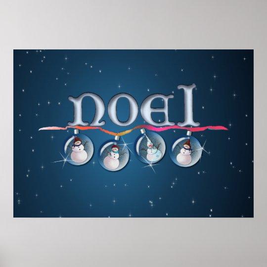 NOEL & SNOWMEN by SHARON SHARPE Poster