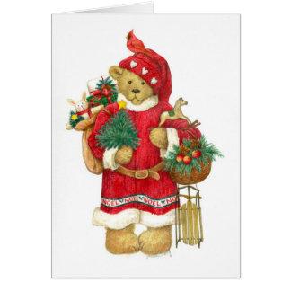 NOEL TEDDY BEAR CHRISTMAS CARD