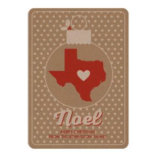 Noel Texas Christmas Bauble Holiday Photo Card 13 Cm X 18 Cm Invitation Card