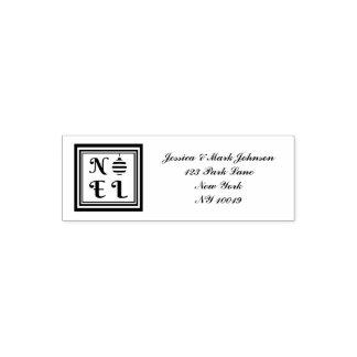 NOEL Text Christmas Holiday Bauble Address Self-inking Stamp
