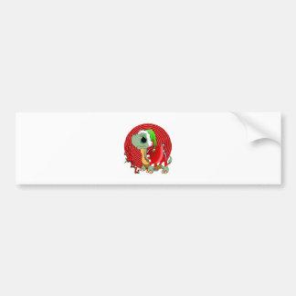 Noel Turtle Car Bumper Sticker