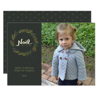 Noel Wreath Religious Christmas Photo Card 13 Cm X 18 Cm Invitation Card