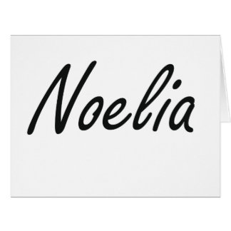 Noelia artistic Name Design Big Greeting Card