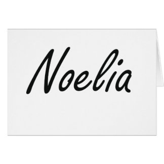 Noelia artistic Name Design Note Card