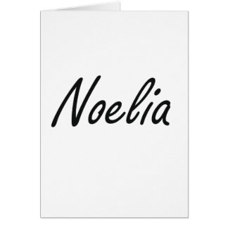 Noelia artistic Name Design Greeting Card