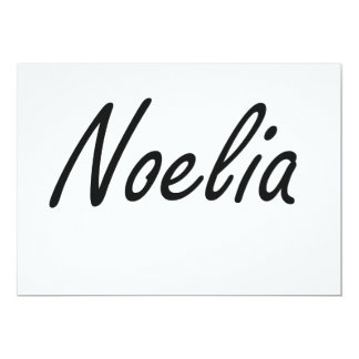 Noelia artistic Name Design 13 Cm X 18 Cm Invitation Card