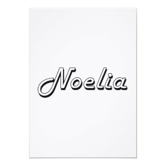 Noelia Classic Retro Name Design 13 Cm X 18 Cm Invitation Card