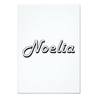 Noelia Classic Retro Name Design 3.5x5 Paper Invitation Card