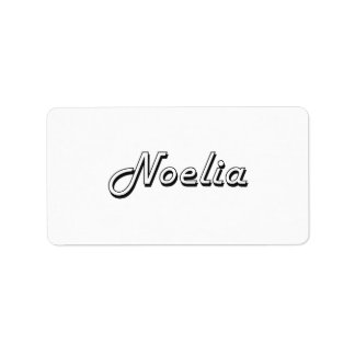 Noelia Classic Retro Name Design Address Label