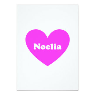 Noelia 13 Cm X 18 Cm Invitation Card