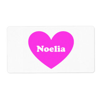 Noelia Shipping Label
