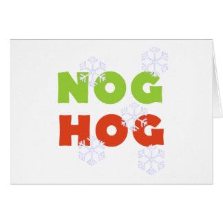 Nog Hog Card