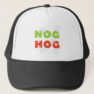 Nog Hog Holiday Tshirts and Gifts Trucker Hat