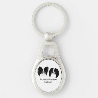 Nøglering med logo Silver-Colored oval key ring