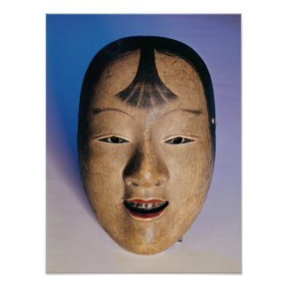 Noh theatre mask of a young boy called poster