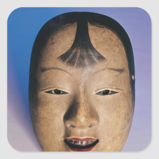 Noh theatre mask of a young boy called square sticker