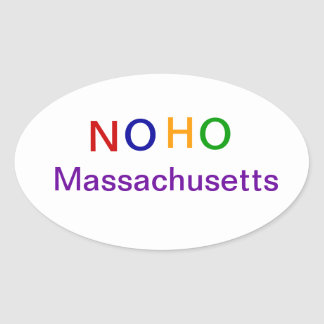 NOHO Massachusetts Oval Sticker