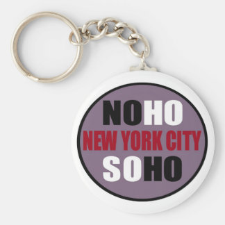 NoHo SoHo New York City Key Chain