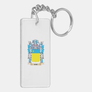 Noir Coat of Arms - Family Crest Rectangle Acrylic Keychains