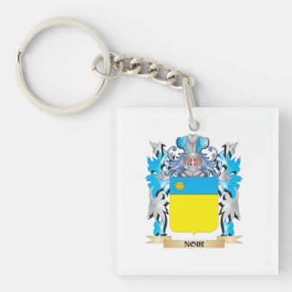 Noir Coat of Arms - Family Crest Square Acrylic Keychains