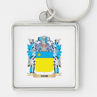 Noir Coat of Arms - Family Crest Keychain
