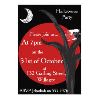 Noir Halloween Invite