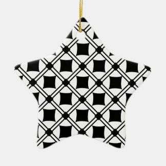 noir pattern ceramic star decoration