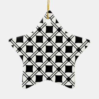noir pattern Double-Sided star ceramic christmas ornament