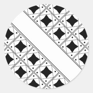 noir pattern classic round sticker