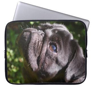 Noir Pug Chin Up Laptop Sleeve