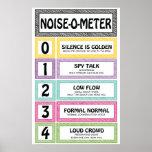 Noise-O-Metre Classroom Management Teacher Sign