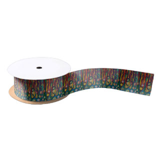 Noise overwhelming music. satin ribbon