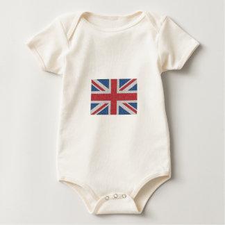 Noisy Union Jack Baby Bodysuit