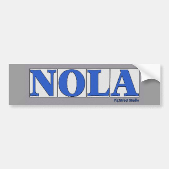 NOLA, Blue Letter Street Tiles Bumper Sticker