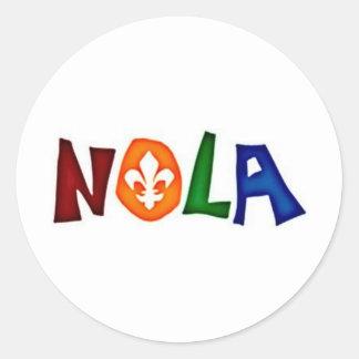 NOLA CLASSIC ROUND STICKER