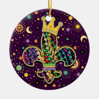 NOLA Dat Fleur de is beads Round Ceramic Decoration