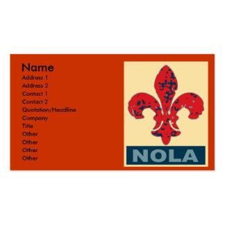 NOLA Fleur De Lis Pack Of Standard Business Cards
