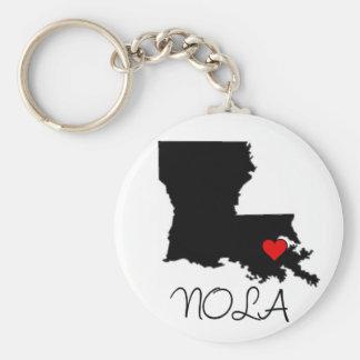 NOLA heart Key Ring