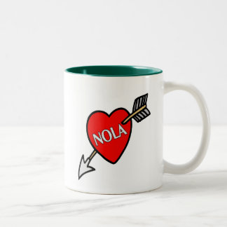 NOLa Heart Two-Tone Coffee Mug