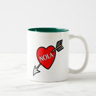 NOLa Heart Two-Tone Mug