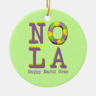 NOLA King Cake gifts Christmas Ornament