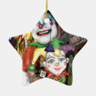 NOLA Mardi Gras Ceramic Star Decoration