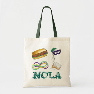NOLA New Orleans Louisiana Mardi Gras Party Tote