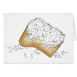 NOLA New Orleans Louisiana Sugary Beignet Pastry Card
