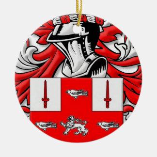 Nolan Coat of Arms Round Ceramic Decoration