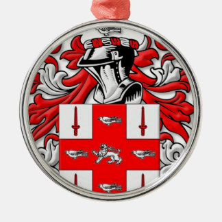 Nolan Coat of Arms Silver-Colored Round Decoration