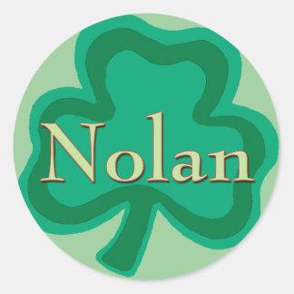 Nolan Family Round Sticker