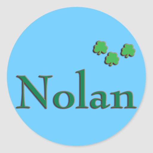 Nolan Last Name Stickers