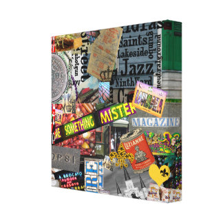 NolaOriginals Collage Art 2008 Wrapped Canvas Gallery Wrapped Canvas