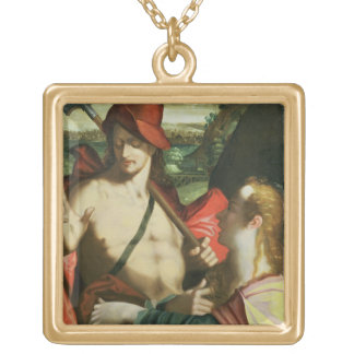 Noli Me Tangere 2 Gold Plated Necklace